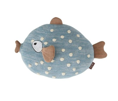 OYOY Coussin Little Finn multicolore textile 23x30x15cm