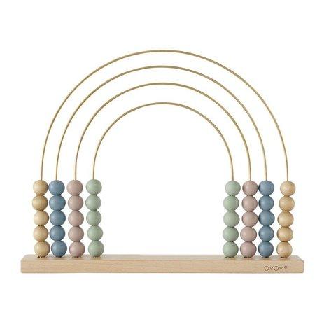 OYOY Abacus Rainbow bois 33x26,5cm