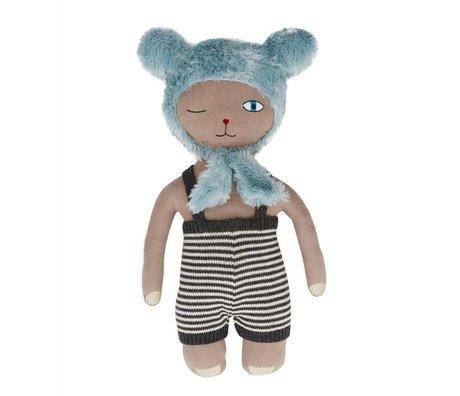 OYOY Hopsi Bär Puppe multicolor 43x25cm