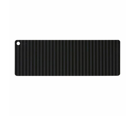 OYOY table runner Suji anthracite gray black silicone 180x27x0.15