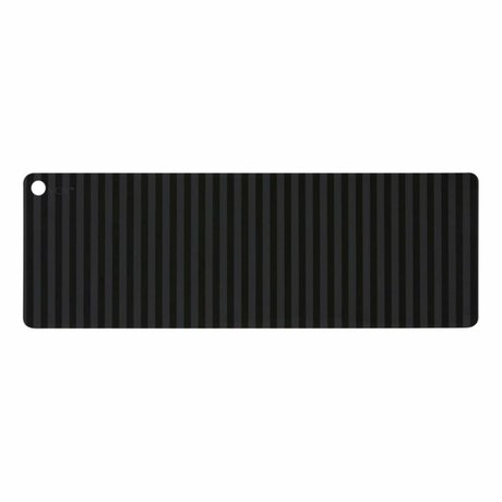 OYOY Tischläufer Suji anthrazit grau schwarz Silikon 180x27x0,15