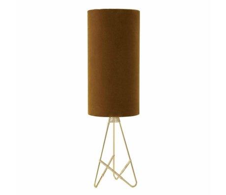 OYOY Table lamp Toko amber orange velvet
