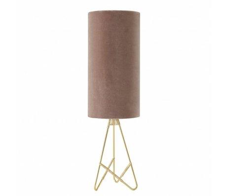 OYOY Table lamp Toko pink velvet