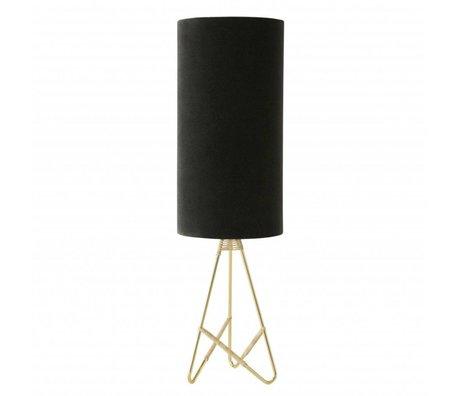 OYOY Table lamp Toko dark gray velvet