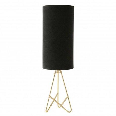 OYOY Lampe de table Toko en velours gris foncé