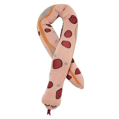 Ferm Living Coussin Fruiticana serpent coton rose 180cm