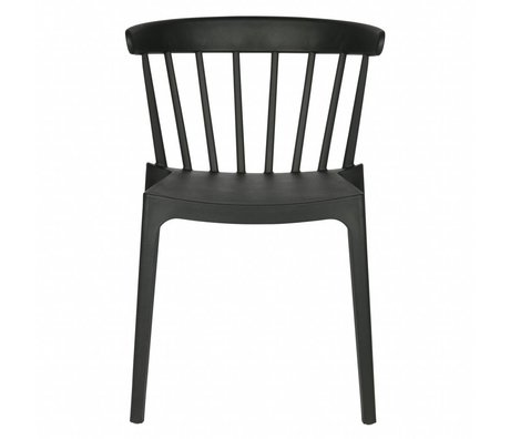 LEF collections Garden chair Bliss black plastic 53x52x75cm