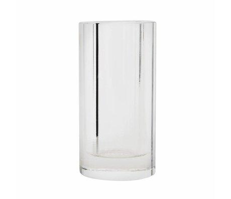 OYOY Vase transparent glass 12,5x6,5cm