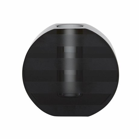 OYOY Kaarsenhouder / Vaas Graphic grijs glas 8x7,7cm