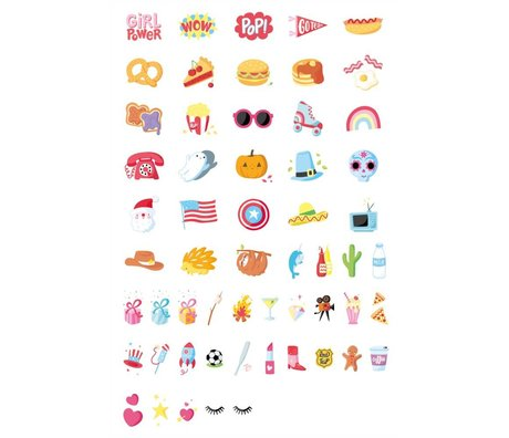 A Little Lovely Company Lightbox letterset American Dreams multicolor kunststof set van 57