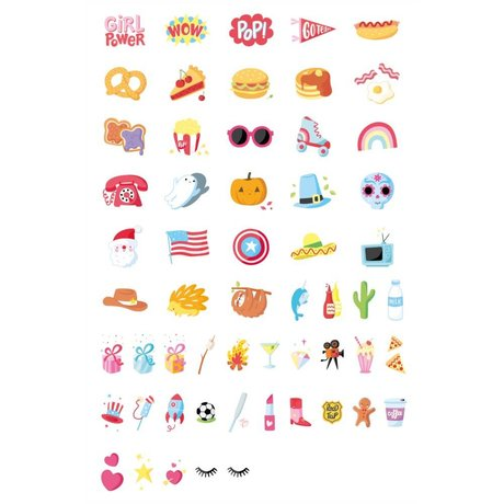 A Little Lovely Company Lightbox Briefset American Dreams multicolor Kunststoff 57er Set