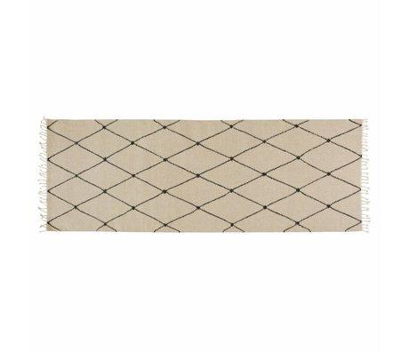OYOY Vloerkleed Mino creme textiel75x220cm