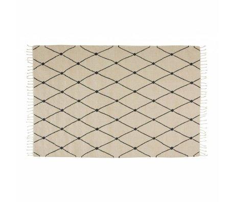 OYOY Teppich Mino Creme Textil 130x190cm