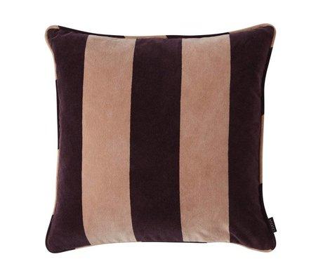 OYOY Coussin Confect aubergine violet rose coton 50x50cm