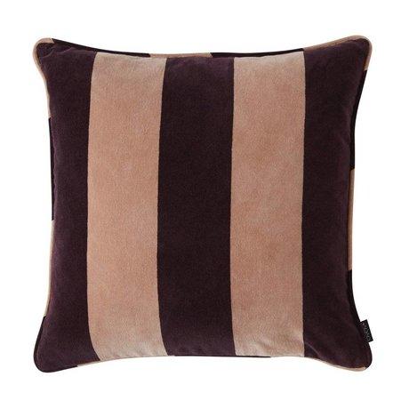 OYOY Cushion Confect aubergine purple pink cotton 50x50cm