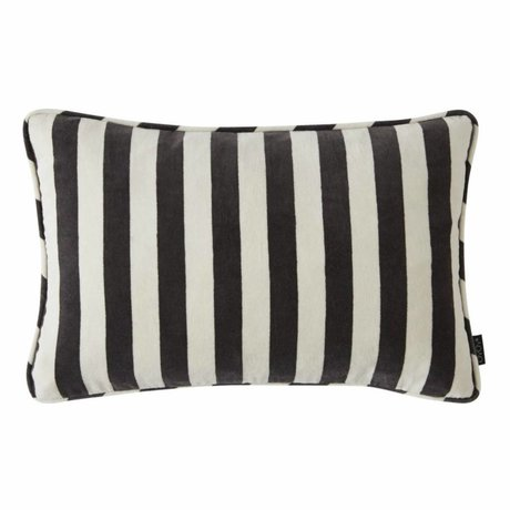 OYOY Throw pillow Confect white dark gray cotton 40x60cm