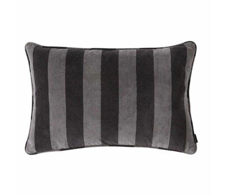 OYOY Throw pillow Confect dark gray cotton 40x60cm