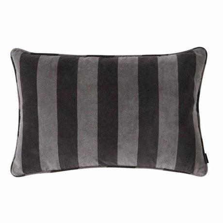 OYOY Coussin Confect coton gris foncé 40x60cm