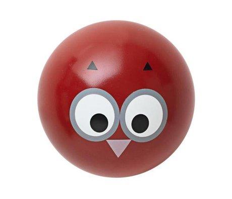 Ferm Living Wandhalterung 'Owl Haken' red Holz Ø5cm