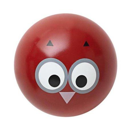 Ferm Living Wandhaakje 'Owl Hook' rood hout Ø5cm