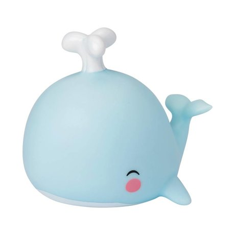 A Little Lovely Company Lampe de table Baleine bleue 10,8x10,8x13cm