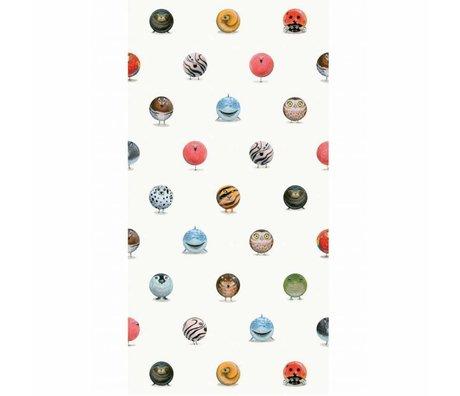 KEK Amsterdam Papier peint Animaux Marbres papier intissé multicolore 97,4 x 280 cm