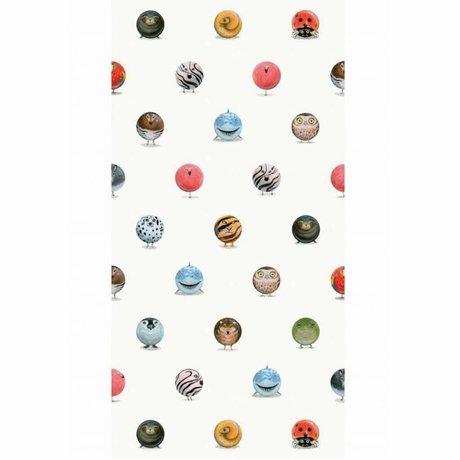 KEK Amsterdam Tapete Animal Marbles mehrfarbiges Vlies 97,4 x 280 cm