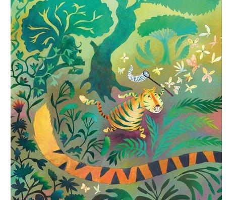 KEK Amsterdam Papier peint Hunting tiger multicolor papier intissé 292,2 x 280 (6 feuilles)