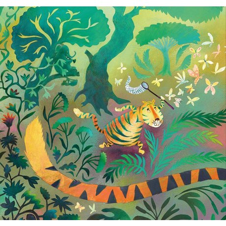 KEK Amsterdam Wallpaper Hunting tiger multicolor non-woven paper 243.5 x 280 (5 sheets)