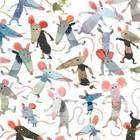KEK Amsterdam Papier peint Petites souris multicolores papier intissé 292,2 x 280 (6 feuilles)