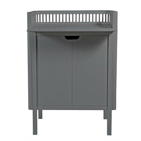 Sebra Commode bois gris foncé 68,5x74x102,5cm