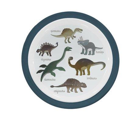 Sebra Children's plate Dino blue melamine Ø21,5x2cm