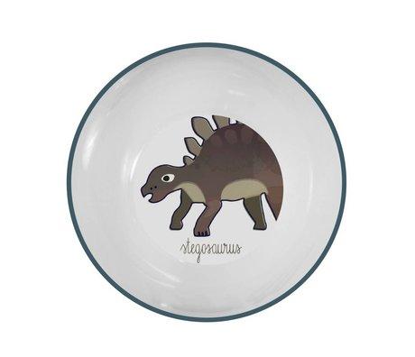 Sebra Children's bowl Dino blue melamine Ø15,5x6cm