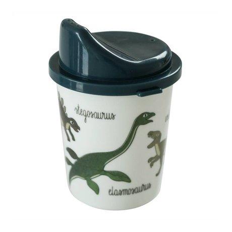 Sebra Spout cup Dino blue melamine Ø7x11cm