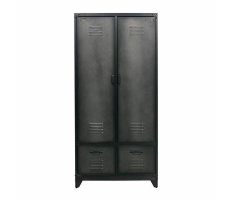 vtwonen Kast locker zwart metaal 190x90x50cm