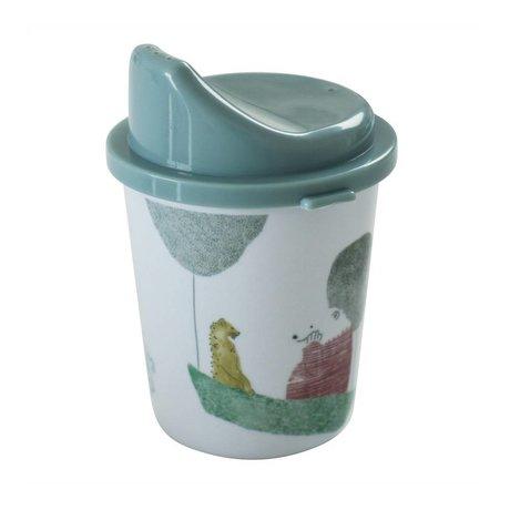 Sebra Spout cup In the sky boy blue melamine Ø7x11cm