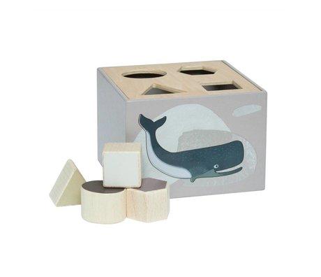 Sebra Form Puzzle Arktis Tiere Naturholz 14x14x10cm