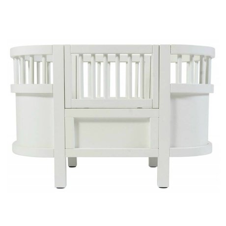 Sebra Doll bed white wood 49x44x35cm