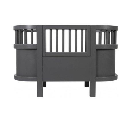 Sebra Doll bed dark gray wood 49x44x35cm