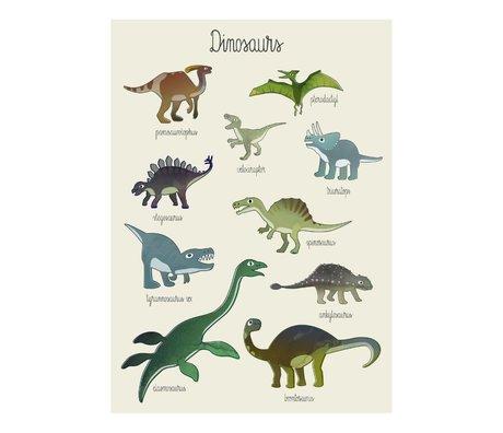 Sebra Poster Dino papier multicolore 50x70cm