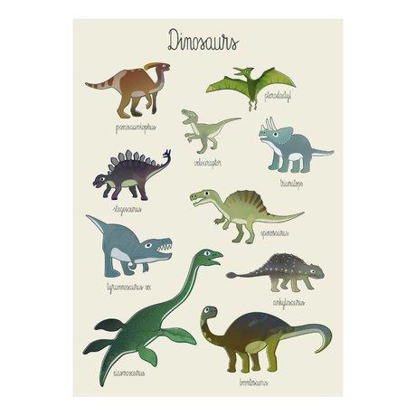 Sebra Poster Dino multicolor paper 50x70cm