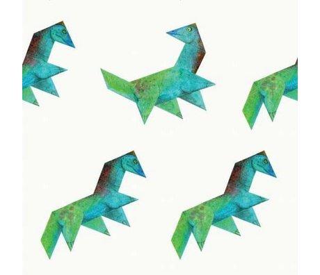 KEK Amsterdam Behang Tangram Dino multicolor vliespapier 97,4 x 280cm