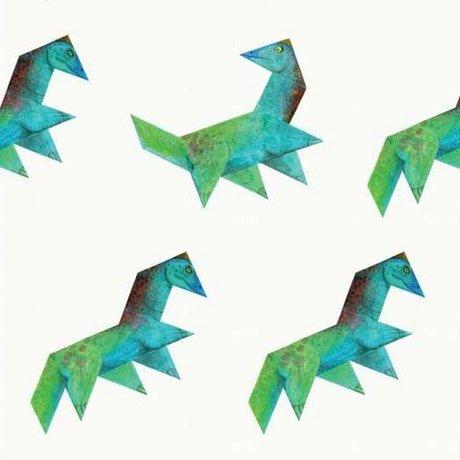 KEK Amsterdam Tapete Tangram Dino mehrfarbiges Vlies 97,4 x 280 cm