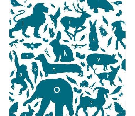 KEK Amsterdam Papier peint animal alphabet essence papier multicolore non tissé 97,4 x 280cm