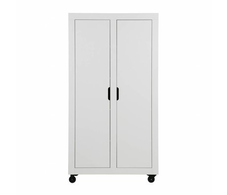 WOOOD Cabinet Elon 2-drs cabinet white pine sanded 190x100x46cm