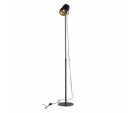 WOOOD Floor lamp Bente black metal 92-162x25x25cm
