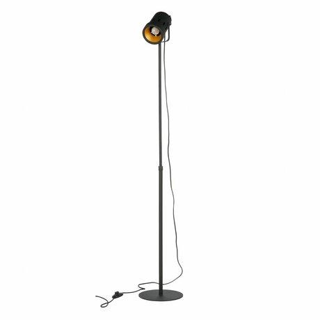 WOOOD Vloerlamp Bente zwart metaal  92-162x25x25cm