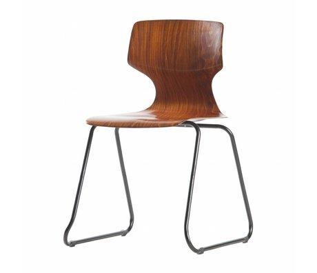 WOOOD School chair Donna brown wood 80x51x51,5cm