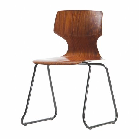 WOOOD Chaise d'école Donna brun bois 80x51x51,5cm