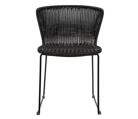 LEF collections Chair Wings (garden) black plastic set of two 77,5x54,5x54cm